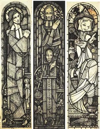 stained glass window design (+ 2 others; 3 works) by christopher campbell