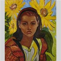 sunflowers by randolph stanley hewton