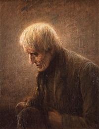 mann mit weißem haar by gerke henkes
