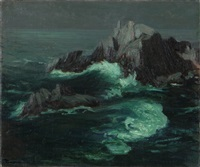 moonlit seascape by jean mannheim