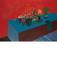 still life on table by james strombotne
