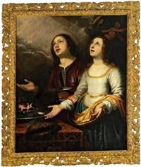 una coppia che chiede la benedizione divina by orazio ferraro