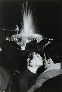 new year's eve, trafalgar square, london by ian berry