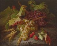herbstliches früchtestillleben by jean-baptiste robie