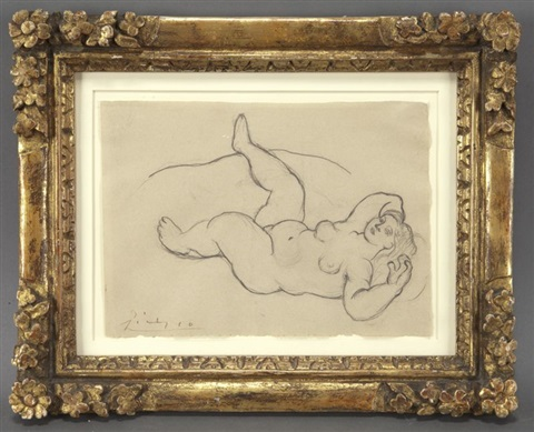 nu couche by pablo picasso