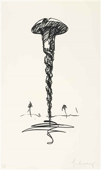 colossal screw in landscape - type 1 by claes oldenburg