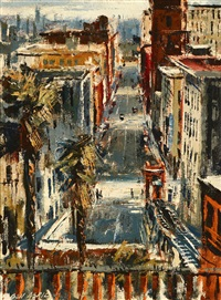 angel's flight - view from the top of the hill by ben abril