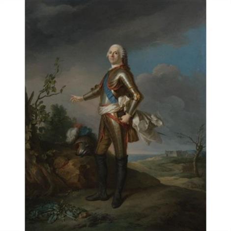 portrait of the duc de richelieu, maréchal de france by jean baptiste nattier