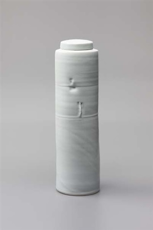 tall lidded vessel by edmund de waal