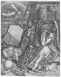 melencolia i (after a. dürer) by hieronymus wierix
