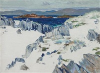 rocks, iona by john duncan