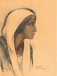 portrait of a javanese woman by léonid frechkop