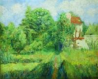 paysage d'eragny by georges manzana-pissarro