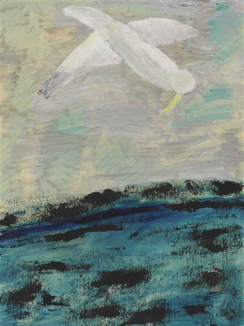 plunging bird by milton avery