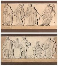françois-marie arouet dit voltaire suivi de zaïre, mahomet et brutus et pierre corneille, suivi d'horace, de cinna et d'auguste (2 works) by pierre jean david d' angers
