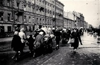 the siege of leningrad - nevsky avenue by boris kudoyarov