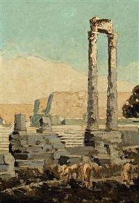 le théâtre antique d'arles by françois omer