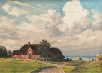 farm house on sylt by paul lehmann-brauns