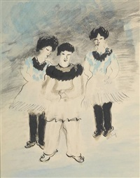 trois personnages costumés by alice frey