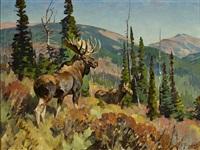 moose by carl clemens moritz rungius