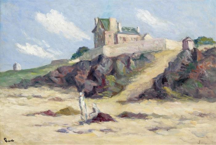 la maison fortifiée dans les dunes by maximilien luce
