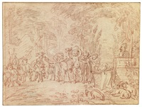 children parodying the triumph of bacchus by jean antoine watteau