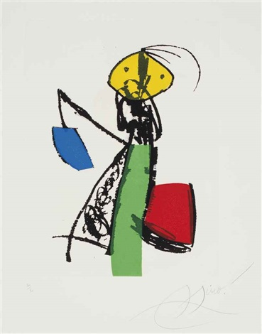 chanteur des rues set of 5 by joan miró