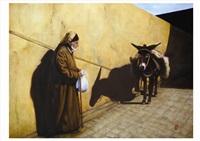 le vieil homme et son âne by rafaelle van hulle