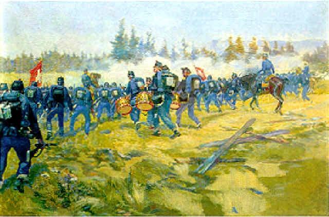 rassemblement de troupes 1891 manoeuvres de romont by louis dunki