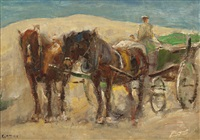 with a carriage in the dunes near domburg by moricz goth