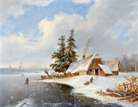winterlandschaft by joseph altenkopf