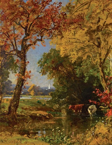 autumn scene by jasper francis cropsey