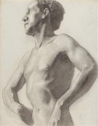 autoportrait by rostislav m. dobuzhinsky