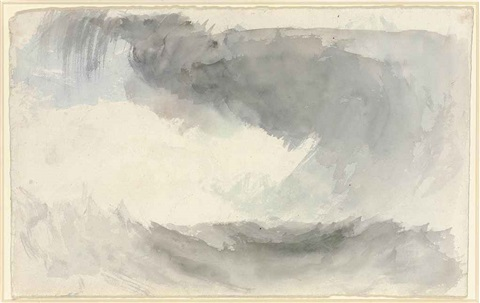 a storm at sea, fingal's cave (study for painting) by joseph mallord william turner