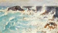 la mer dans les rochers de belle ile en mer by jean puy