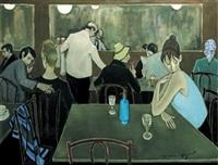 scène de café by simon simon-auguste
