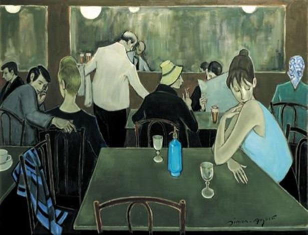scène de café by simon simon auguste