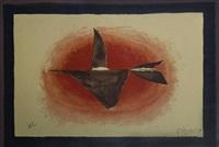 au couchant (oiseau xvi). (vallier 126) by georges braque