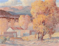 autumn sunset, new mexico by carl von hassler