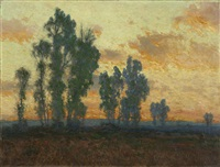 california sunset by charles partridge adams
