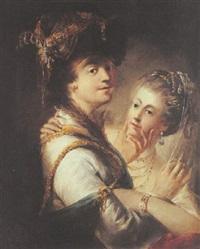 portrait de jeunes mariés by matthäus loder