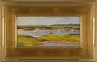 boat meadow calm by rosalie nadeau
