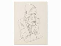 portrait of a man by jeanne mammen
