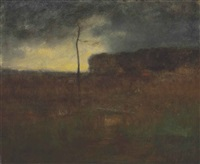a cloudy day by george inness