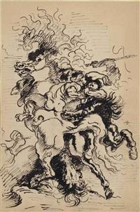 choc de cavalerie by louis anquetin