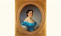 femme à la robe bleue by jules louis machard