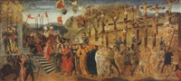 the martyrdom of saint achatius and the ten thousand martyrs by davide bigordi ghirlandajo