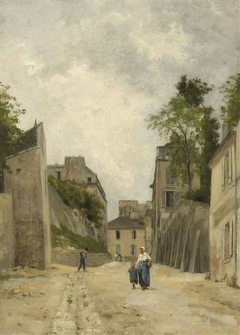 une rue à montmartre by stanislas lépine