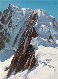 le mont blanc du tacul depuis le gros rognon by jacques charles fourcy