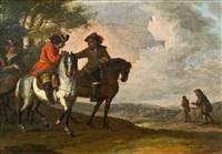drei reiter in einer landschaft by pieter wouwerman